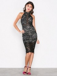 Love Triangle Faithful Midi Dress Kropsnære kjoler Black