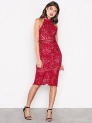Love Triangle Faithful Midi Dress Kropsnære kjoler Red