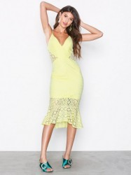 Love Triangle Star Crossed Lover Midi Dress Kropsnære kjoler Citron