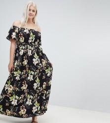 Lovedrobe Printed Bardot Maxi Dress - Multi