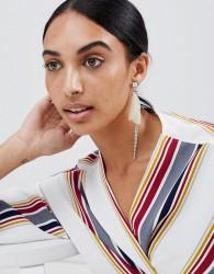 LoveRocks London Delicate Petal Asymmetric Earrings - Silver