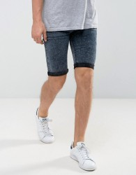Loyalty and Faith Acid Wash Denim Shorts - Black