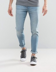 Loyalty and Faith Pillar Slim Stretch Jeans in Light Wash - Blue