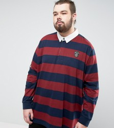 Loyalty and Faith PLUS Bold Stripe Rugby Shirt - Navy