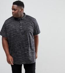 Loyalty and Faith PLUS Marl Polo Shirt - Black