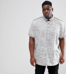 Loyalty and Faith PLUS Marl Polo Shirt - Grey
