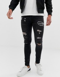 Loyalty and Faith skinny fit jeans in washed black - Black