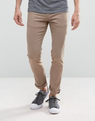 Loyalty and Faith Skinny Fit Jeans with Light Abbrasions in Stone - Stone