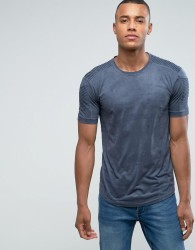 Loyalty and Faith Suedette T-Shirt with Sleeve Detail - Grey