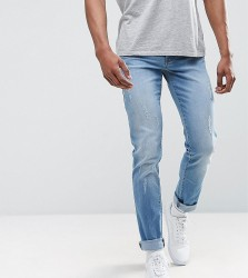 Loyalty and Faith TALL Slim Fit Jean with Abbrasions - Blue