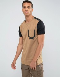 Loyalty and Faith Tape Pocket T-Shirt - Beige
