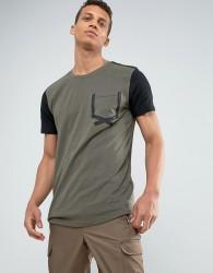 Loyalty and Faith Tape Pocket T-Shirt - Green