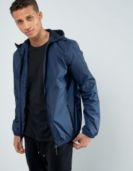 Loyalty and Faith Zip Thru Hooded Jacket - Navy