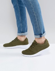 Loyalty & Faith Diver Trainers In Khaki - Green