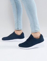 Loyalty & Faith Diver Trainers In Navy - Blue