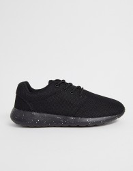 Loyalty & Faith lace up trainer in black - Black