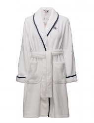 Lrl Cotton Terry Collar Robe W/Embrod.