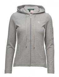 Lrl Lounge Pique Zip Jacket W/Hoodie