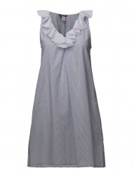 Lrl Ruffled Neck Gown Sl.Less