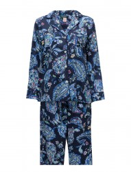Lrl Sateen L/S Classic Notch Pj Set