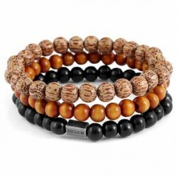 Lucleon Black and Brown Armbånd