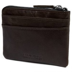Lucleon Brun Montreal RFID-Læderpose med Lynlås