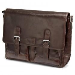 Lucleon Mørkebrun Jasper Messenger Lædertaske