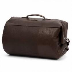 Lucleon Mørkebrun Klassisk Montreal Rejsetaske i Læder