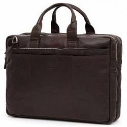Lucleon Mørkebrun Montreal XL Computertaske i Læder