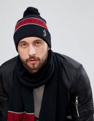 Luke Sport Baxter Beanie Hat In Black - Black