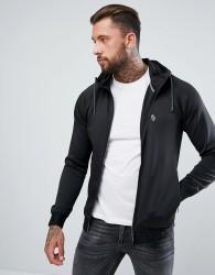 Luke Sport Dixon Tricot Hooded Sweat Jacket in Black - Black