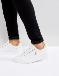 Luke Sport Haskell Quilted Leather Trainer In White - White