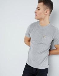 Luke Sport Home Towelling Crew Neck T-Shirt In Grey Marl SUIT 2 - Grey