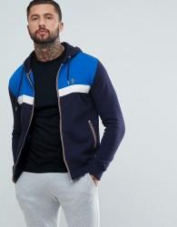 Luke Sport Johnson Full Zip Hoodie In Navy/Blue - Navy