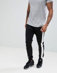 Luke Sport Koeman Tape Detail Joggers In Black - Black