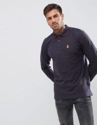 Luke Sport Longmead Long Sleeve Polo Shirt In Charcoal - Grey