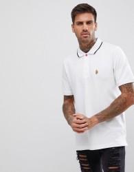 Luke Sport Mead Short Sleeve Polo Shirt In White - White