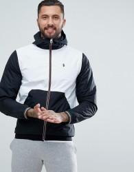 Luke Sport Nurmi Full Zip Windbreaker In White Mix - White