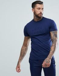 Luke Sport Phelps 3D Lettering T-Shirt In Navy - Navy