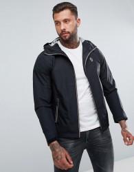 Luke Sport Raleigh Zip Through Hooded Jacket in Black - Black