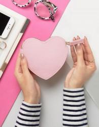 Lulu Guinness Heart Coin Purse - Pink