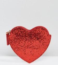 Lulu Guinness Red Glitter Heart Purse - Red