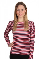 Mads Nørgaard - Bluse - 2x2 Soft Triple Tuba - Navy/Red