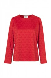 Mads Nørgaard - Bluse - Tonal Jacquard Shazzy - Red/Red