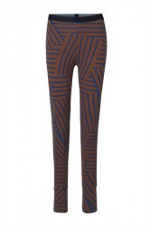 Mads Nørgaard - Leggings - Stretch Stripe Lizenna - Mid Brown/Blue