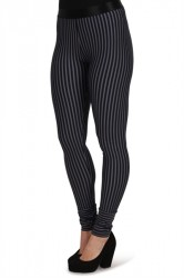 Mads Nørgaard - Leggings - Stripe Run Lizetta - Navy/White