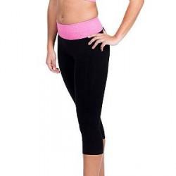 MAGIC Yoga Crop Pants - Black/Pink * Kampagne *