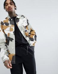 Maharishi Camo Mountain Jacket In Nylon Ripstop - White