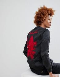 Maharishi Camo Tiger Back Embroidered Crew Neck Sweatshirt - Black