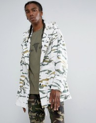 Maharishi Cargo Camo Long Line Jacket - Green